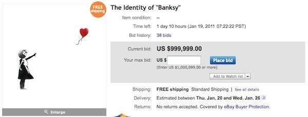 Bansky identity ebay