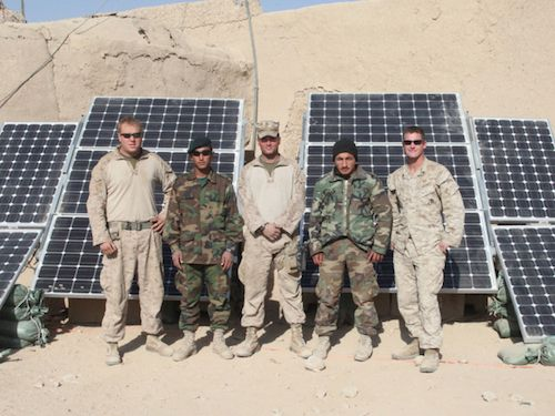 US Marines using solar in Afghanistan