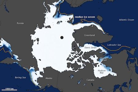 Record low Arctic sea ice
