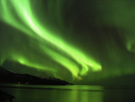 aurora above sea
