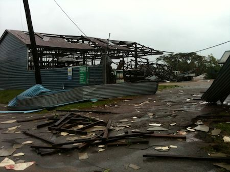 Cyclone Yasi damage - ingham Queensland