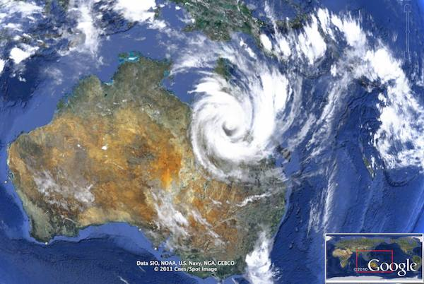 Cyclone Yasi – inland