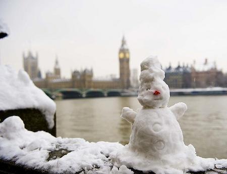 London snow – snowman