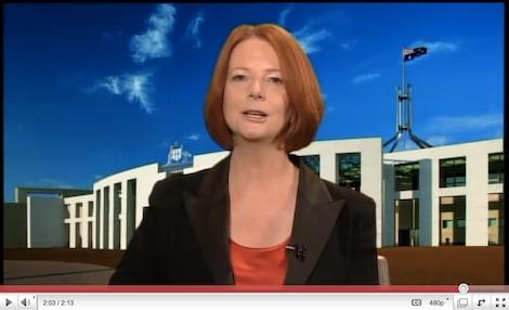 Earth Hour 2011 – Julia Gillard