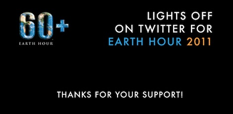 Lights Off on Twitter for Earth Hour 2011