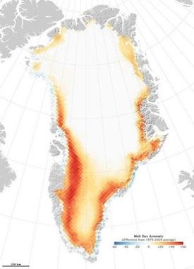 Greenland ice melt 2010