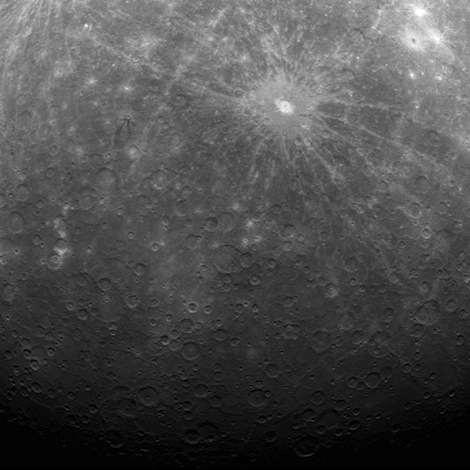 Planet Mercury from orbit