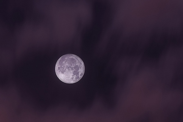supermoon purple tint
