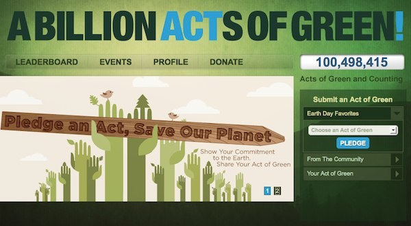 Earth Day 2011 – a billion acts of green