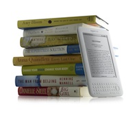 Kindle with books