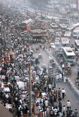Crowded street, Bangladesh