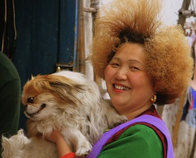 Dog and owner – Shanghai