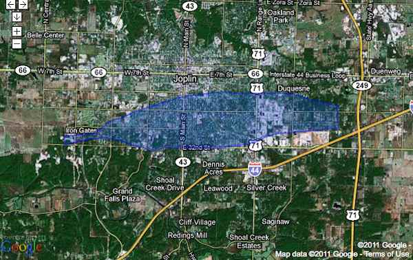 Joplin Tornado map