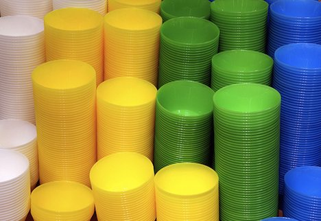 Colourful plastic