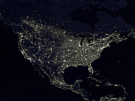 US night lights seen from space