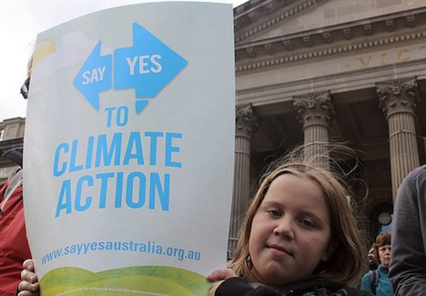 Australian rally for climate action and carbon price