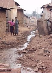 Open sewage, Ghana