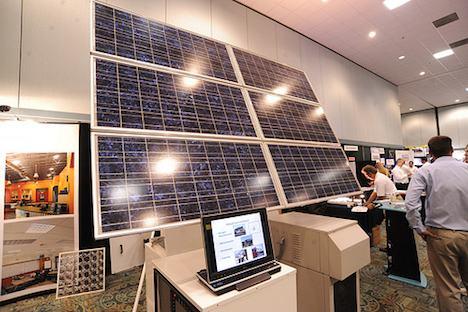 Solar panel display
