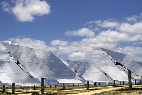 Solar thermal plant mirrors