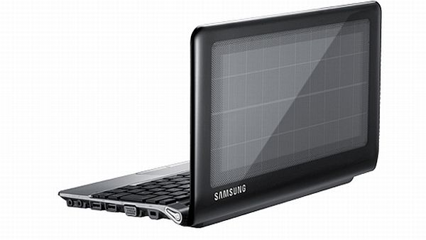 Samsung solar powered notebook