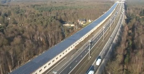 High-speed rail tunnel topped with solar panels