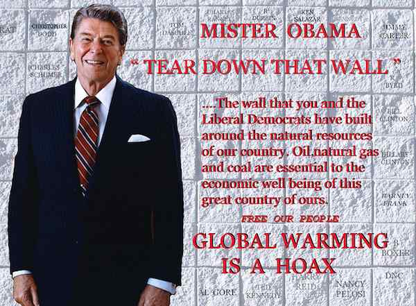 Global warming hoax campaign