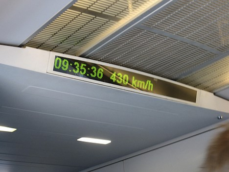 Maglev train speed