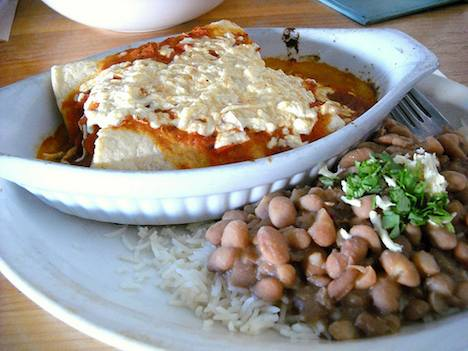 Meatless Monday - vegetarian enchiladas