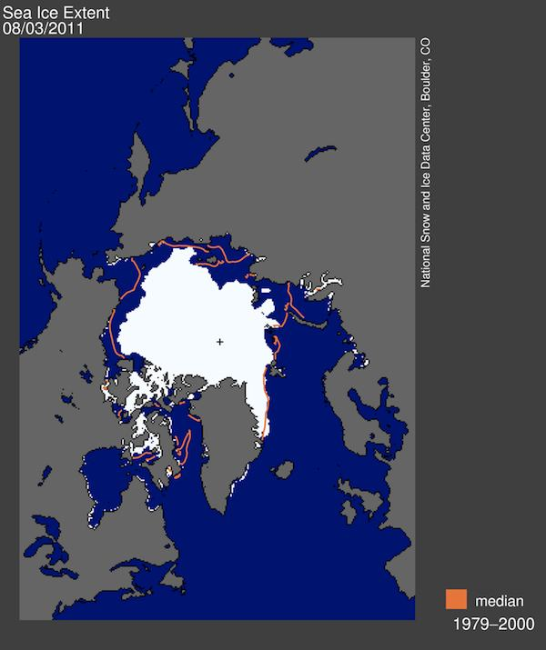 Arctic Sea Ice Melt 2011