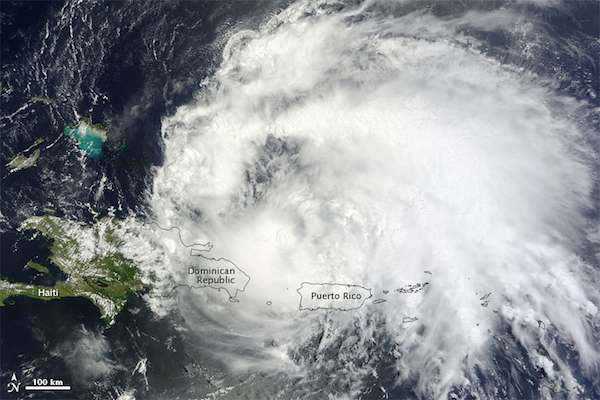 Hurricane Irene in the Carribean