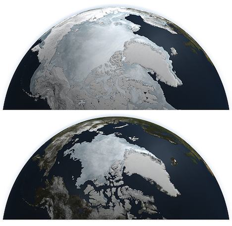 Arctic ice melt 2011