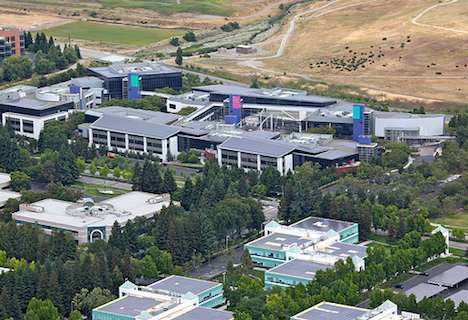 Googleplex blanketed in solar panels