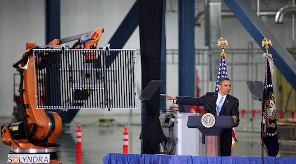 Obama visits Solyndra in 2010