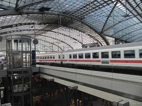 Deutsche Bahn train at Berlin train station