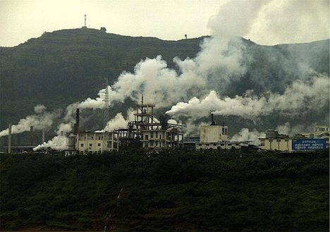 Factory pollution - China