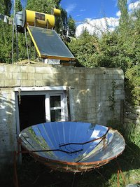 Solar hot water and cooker