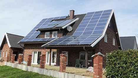 Rooftop solar installation in Germany