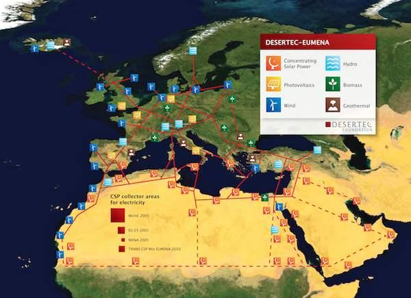 Desertec map