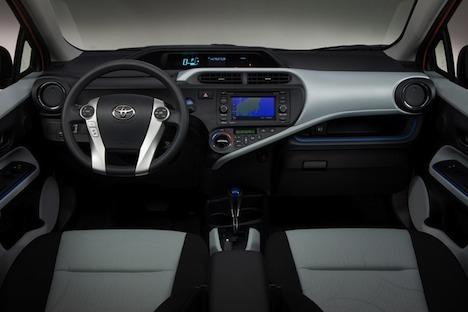Toyota Prius Model C interior