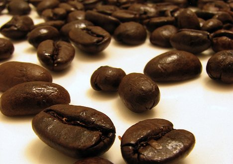 Organic fair trade coffee beans