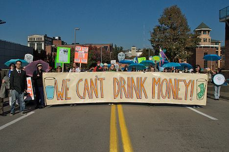 Fracking protest – We Can't Drink Money