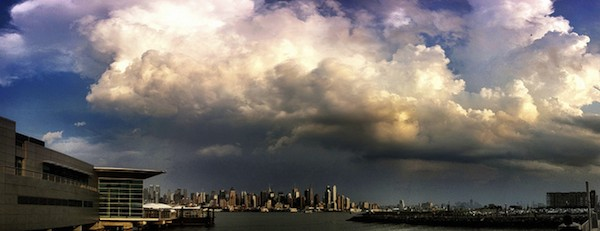 Storm over New York City