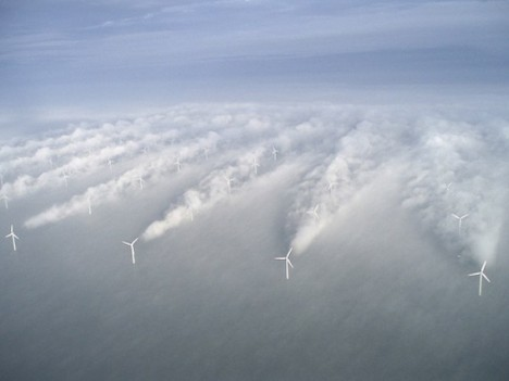 Offshore windfarm in Denmark