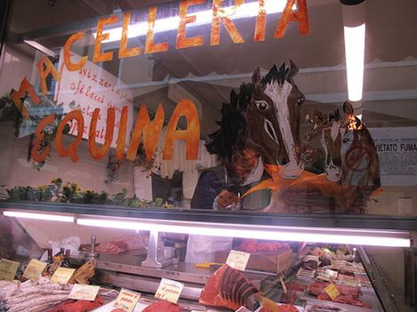 Horse meat on sale in Italy
