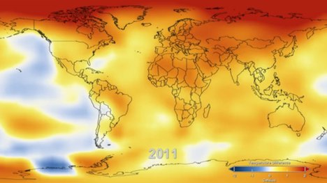 2011 global temperatures