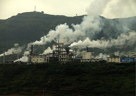 Factory pollution in China
