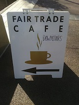 Fair Trade Cafe sign
