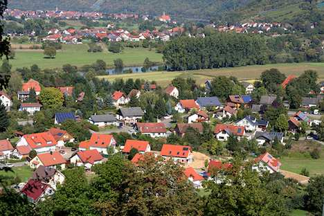 Solar panels on houses in Germany