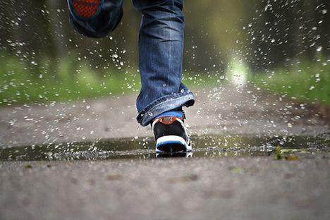 Nike shoe in water