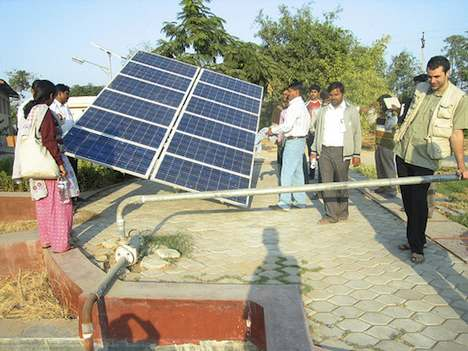 Solar powered water pump – India